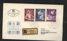 Austria  B288,290,293 on registered cover local use 1954          EX0410