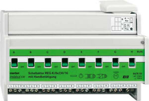 Merten 647893 Schaltaktor REG-K 16 A mit Handbetätigung 8 Kanäle
