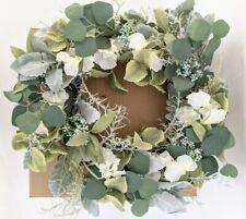 """NIB Pottery Barn FAux Silver Sage wreath, 18"""", green"""