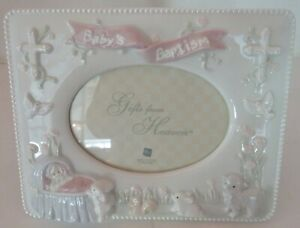Russ Baby Bless this Child Baptism Frame- For 3 1/2 x 5 Photo - New