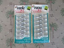 24 Focal Brand[ PRE TESTED M-3 FLASHBULBS] From Kmart>NEW+SEALED