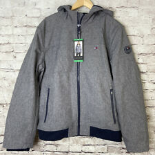 Tommy Hilfiger Mens Gray Hooded Soft Shell Jacket Size XL