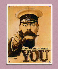 metal sign plaque vintage retro style Your country needs you Kitchener 20 x 15cm