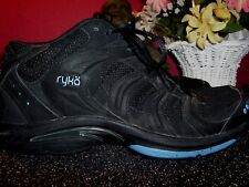 RYKA BLACK  leather and mesh ankle athletic shoes 11M in very good condition