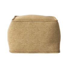 """NEW - Outdoor Pouf Natural Woven by Threshold 20"""" x 20"""" x 15"""""""