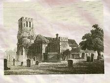 Tottenham Church Middlesex England 1840 Photo Print A4