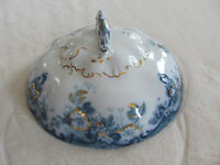 Alfred Meakin-Richmond Blue-Flowers,Scrolls,Gold Accents- Serving Bowl Lid Only
