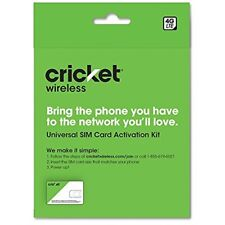 Cricket Byod 2.0 Wireless 3-in-1 Sim Card Kit Nationwide 4G Lte Prepaid Black