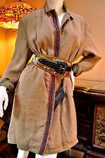 Burberry Brit Womens Nova Check Linen Cotton Raffia Jacket Coat  Sz 10 44
