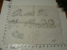 Vintage LARRY WEBSTER--PENCIL SKETCHES ON PAPER #9 DOGS
