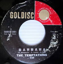 THE TEMPTATIONS Doo Wop 45 Barbara on Goldisc label