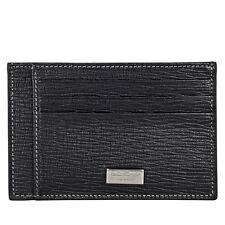 Ferragamo Embossed Leather Card Case - Black