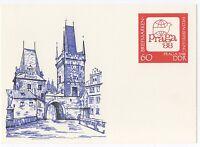 """alte DDR Ersttagspostkarte """"Briefmarken Weltausstellung Praga `88"""" /NEU !"""