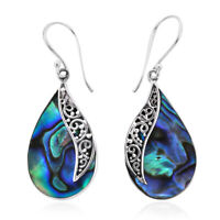 925 Sterling Silver Abalone Shell Drop Dangle Earrings Valentines Gift for Women
