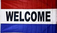 3' x 5' Nylon Welcome Flag / Banner Red White Blue Stripes New