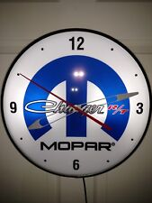 MOPAR CHARGER R/T VINTAGE PAM STYLE ELECTRIC WALL CLOCK--- oil, gas, signs