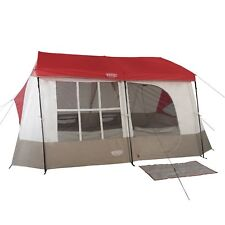 Wenzel Kodiak 9 Person Family Cabin Style Outdoor Camping Tent w/ Divider, Red