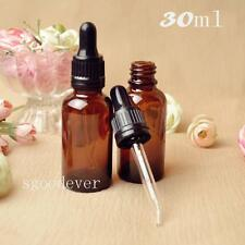 10pcs 30ml Glass bottle dropper bottle with The anti-theft cover with scale drop