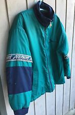 MENS PRO PLAYER SIZE LARGE MIAMI DOLPHINS ZIPPERED JACKET NFL Turquoise