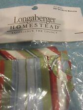 Longaberger Small Woven Memories Basket Liner Sunflower Stripe