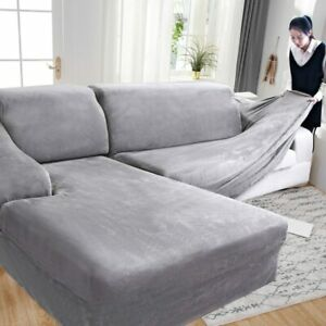 Thick Plush Sofa Cover For Living Room Sofa Towel Slip-resistant Keep Warm Couch