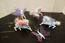 Barbie Magic Of Pegasus Small Horse/2004 Mattel Flying Horse LOT OF 4+ BUTTERFLY