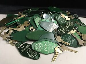 Vintage Holiday Inn Key and & Green Key Chain / Fob 1960's