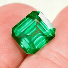 2.3Ct Colombian Emerald Octagon Collection Color Enhanced QMDa496