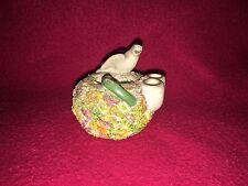 Staffordshire Bird Figure Inkwell Quill Holder Ca. 1880