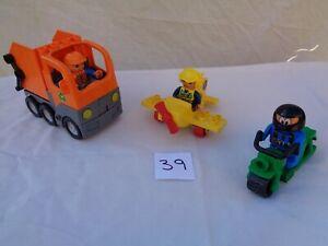 LEGO DUPLO TRUCK PLANE MOTORCYCLE VEHICLES AND FIGURES ETC BUNDLE JOB LOT #39