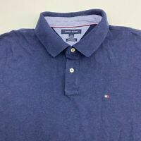 Tommy Hilfiger Polo Men's Size 2XL XXL Short Sleeve Navy Casual Golf Custom Fit