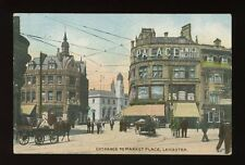 Leicestershire Leics LEICESTER Entrance to Market Place 1913 PPC