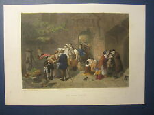 Original Old 1870's Antique Print - THE POST OFFICE - James Virtue - London