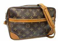 AUTH LOUIS VUITTON  Trocadero 27 Shoulder Bag Monogram Brown LV E-1097