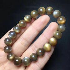 Stretch Round Crystal Beads Bracelet 10.6mm Natural Gold Radiant Sunstone Quartz