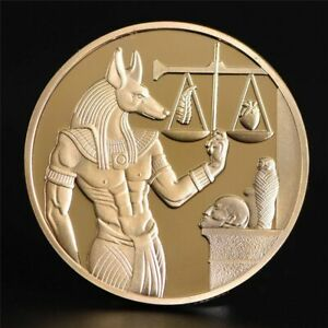 Egypt Death Protector Anubis Coin God Of Death Commemorative Coins Collectable