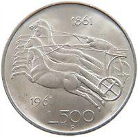ITALY 500 LIRE 1961 TOP #s27 537