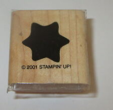 Star Rubber Stamp Background Stampin Up Wood Mounted Retired Celestial