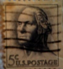 1962 U. S. Scott 1229 George Washington Coil one used cancelled 5 cent stamp