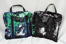 Flip mermaid reversible sequin mini laptop small purse tablet bag make-up tote