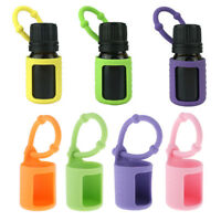4pcs Mini Silicone 5ml Essential Oil Roller Bottle Sleeves Carry Holder