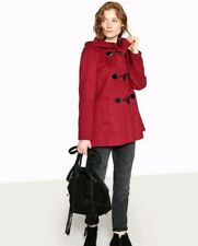 BN La Redoute Collections  Short Hooded Duflle Coat Red UK 12