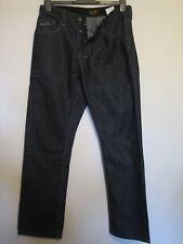 AA14) Para Hombre Negro Voi Jeans Cierre De Botones Cintura 32 pierna 32