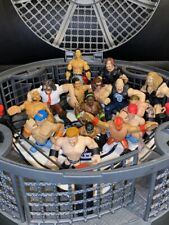 WWE Micro Aggression Elimination Chamber Cage Ring & 15 Mini Wrestling Figures