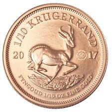 50 Jahre Jubiläums-Krügerrand 1/10 oz Gold ST Südafrika 2017 im Etui