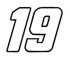 "4"" x 5"" Daniel Suarez Carl Edwards Number 19 Window Decals Joe Gibbs Racing"