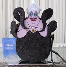 Danielle Nicole Disney Ursula Crossbody Bag Purse Glitter Black NWT