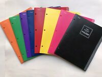 New Mead Five Star 2 pocket poly folders in multi colors pack of 8