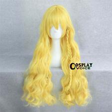 100cm Touhou Project Watatsuki noToyohim Yellow Long Curly Cosplay Anime Wig+Cap
