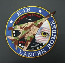 """B-1B Lancer Bomber, Military Plane Embroidered Patch 10.5"""" x 10.5"""""""